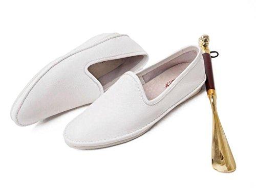 SHIXR Pantalons à lacets pour hommes Oxford Summer Nouveaux pantalons Chaussures Chaussures confortables en cuir doux en cuir de première couche Chaussures élégantes Chaussures paresseuses A Chaussure White