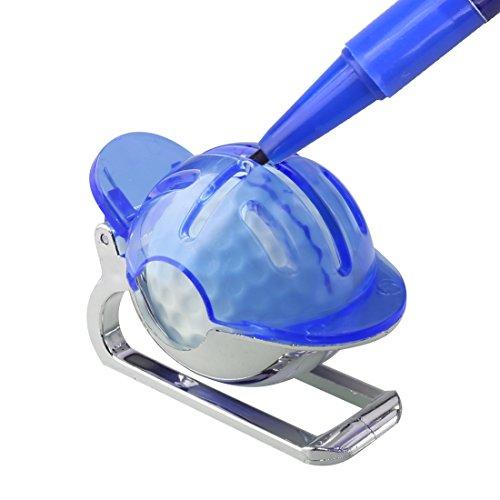 A-szcxtop Golfball-Markierer, Ausrichtungshilfe, Hilfsmittel zum Markieren, blau