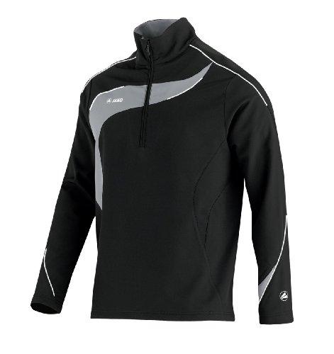 JAKO Herren Sweatshirt Ziptop Competition Schwarz/Grau