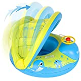 Peradix Flotador para bebé 6meses-3 Años Barco Inflable Flotador con Asiento...