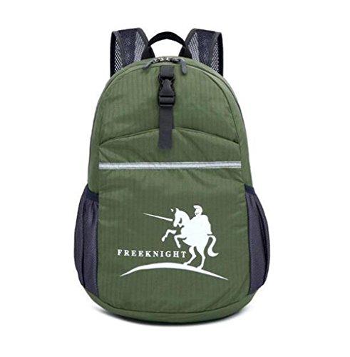 Wmshpeds Ultra-light borsa a tracolla con borsa di pelle esterno pieghevole zaino borsa uomini e donne alpinismo pacchetto di viaggio D