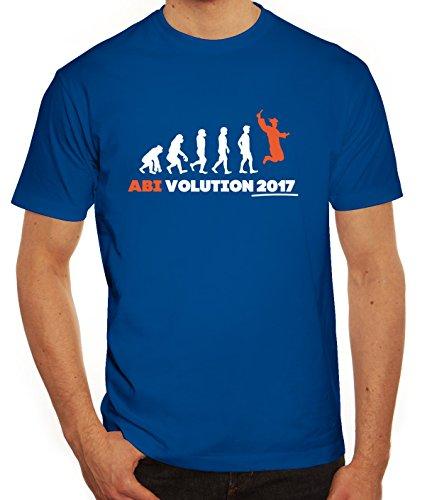 Abschluss Abitur Herren T-Shirt mit Abi Evolution 2017 Motiv von ShirtStreet Royal Blau