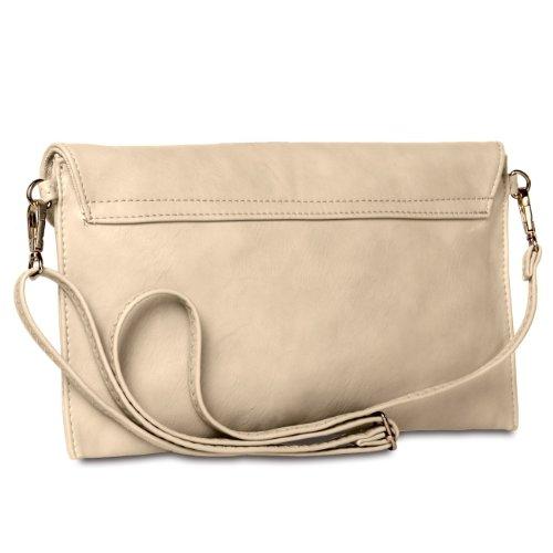 CASPAR Taschen & Accessoires, Poschette giorno donna Cream white