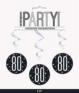 Unique Party- Adornos, Color black & silver (83790)