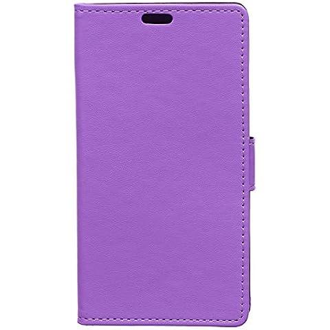 Locaa(TM) Para Huawei Honor 4A Honor4A Case 3 IN 1 Accesorios Protector Phone Cover Shell Caso Cas Funda Alta Calidad Piel Para Carcasa Bumper Protección [Ordinario 1] -