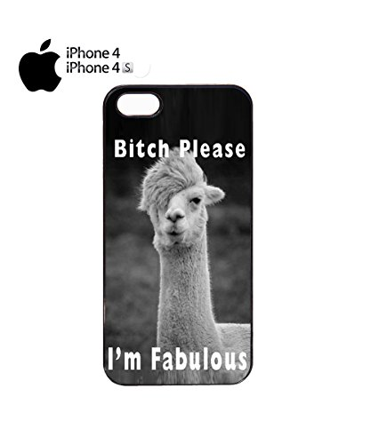 I'm Fabulous B*tch Please Llama Cool Funny Mobile Phone Case Cover iPhone 5&5s White Noir