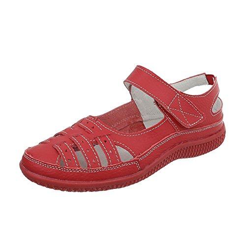 Ital-Design - Sandalias / Sandalias Mujer , color Rojo, talla 40 UE