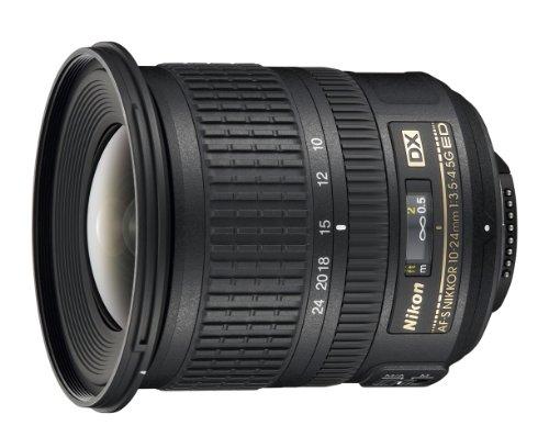 Nikon AF-S DX Nikkor 10-24mm 1:3,5-4,5G ED Objektiv (77 mm Filtergewinde) schwarz (85 Festbrennweite Nikon)