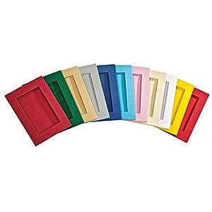 folia 130565 – Passepartouts mit rechteckiger Stanzung, ca. 10,5 x 15 cm, 5 Karten (220 g/qm) und Kuverts, gold – ideal…