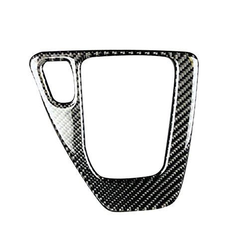 Bodbii Carbon Fiber Schaltknauf Systemsteuerung Abdeckung Trim Auto-Zusatz-Dekor-Aufkleber für BMW 3er E90 E92 E93 2005-2012 (Bmw E92 Carbon Fiber)