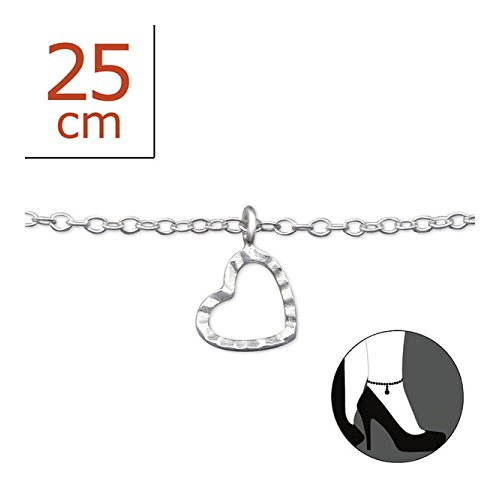 Stering Silver Heart Anklet