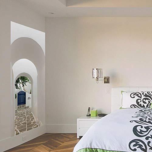 Aufkleber Bogen Kleiner Hof 80X200CM Europäische Aufkleber wandaufkleber tapete Kunst Dekoration DIY Landschaft Urlaub zuhause Stereo wandbild ()