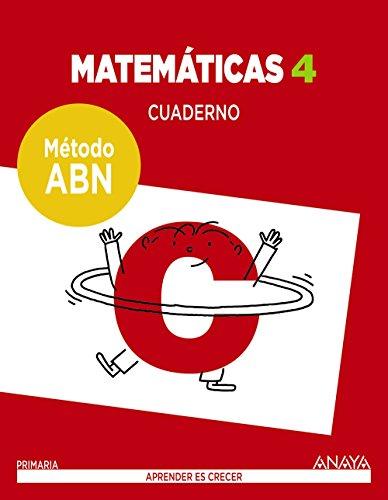 Matemáticas 4. Método ABN. Cuaderno.