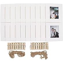 ablus almacenar 20pcs papel juego de marcos de fotos de para FUJIFILM Instax Mini 7s 88+ 9252650s 7090Cámara de fotos instantánea película