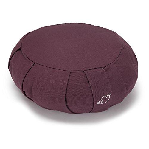 Blue Dove Yoga Zafu méditation cushion filled with soft cotton, Homme, - melanzana