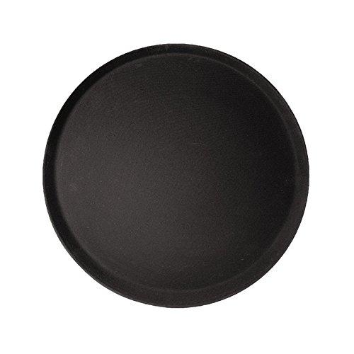 co-rect Kunststoff rund Gummi gefüttert Rutschfestes Tablett, 35,6cm schwarz Martini-maker