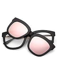 b6c48f98924 Occhiali da sole Wayfarer Occhiali da sole retrò full frame con lenti  intercambiabili per uomo donna