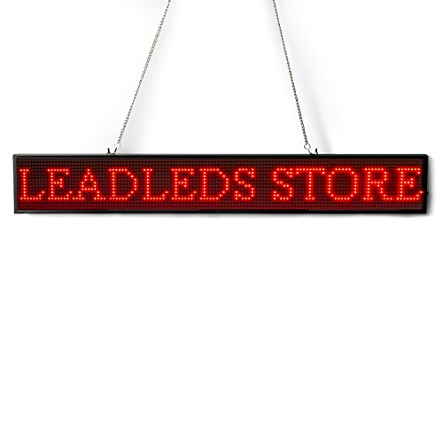 Leadleds Ultra-Thin Design P5mm 16X96 Pixel SMD LED programmierbare Scrolling Nachricht Sign Board, PC Software Change messages (rot) - 3