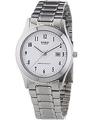 CASIO LTP-1141A-7B - Reloj de cuarzo, para mujer, color blanco y plateado