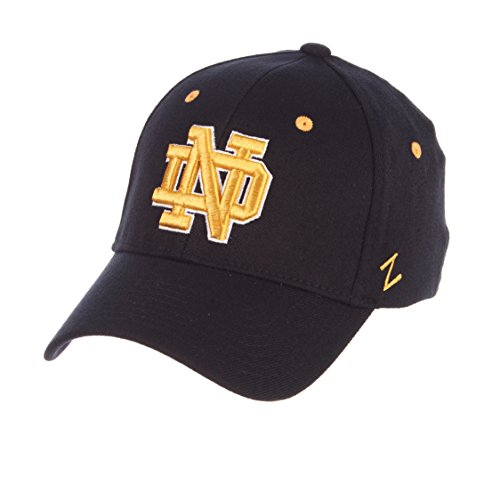 Zephyr University of Notre Dame ND Fighting Irish Blue DH Adult Mens Fitted Baseball Hat/Cap Size Medium Large - Notre-dame-fitted Cap