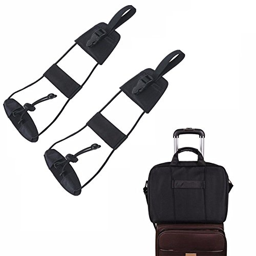 Valise de sécurité pour bagages, Chickwin Sac de voyage Valise réglable Ceinture ajustable Ajouter une sangle de sac Carry on Bungee Travel (2pcs)