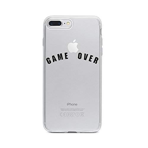 licaso Apple iPhone 8 Plus Handyhülle Smartphone Apple Case aus TPU mit Game Over Spiel Video Print Motiv Slim Design Transparent Cover Schutz Hülle Protector Soft Aufdruck Lustig Funny Druck Video Soft Case