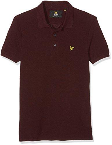lyle-scott-logo-polo-homme-rouge-claret-marl-medium-taille-fabricant-m