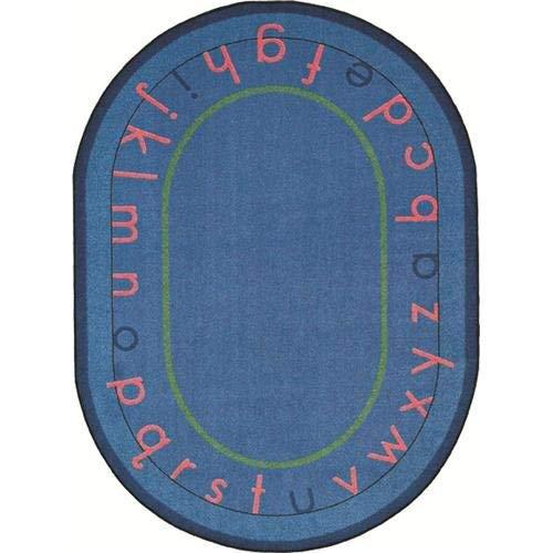 Imagen para Joy Carpets Kid Essentials Early Childhood Round Montessori Alphabet Rug, Multicolored, 7'7 by Joy Carpets