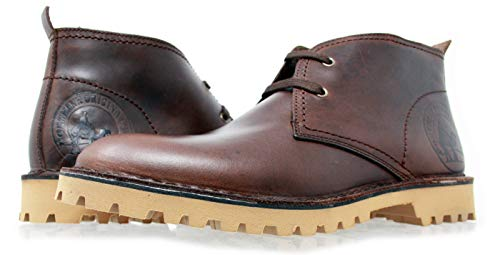 Desert Classic PORTMANN | Boots Antique Brown Oiled Leather | Eva Sole ExtraLight | Hand Made In Europe | (43 EU \ UK 9, Antique Brown) -