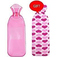 Baoffs Luxus-Wärmflasche 500 ML 1000 ML 2 Größen Erhältlich Lange Stil PVC Heißwasserflasche Heißwasserbeutel... preisvergleich bei billige-tabletten.eu