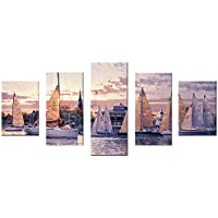 CLOOM 5D Diamant Painting Set Tier Stadt Landschaft Wandbilder Wanddekoration Wohnzimmer Schlafzimmer Dekoration für Home Wall Decor 5 Bilder Kombination DIY Diamond Painting Groß Wandaufkleber (G)