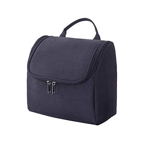 Oyfel tragbar zum Aufhängen Reisen Kulturtaschen mit Haken Cosmetics Make up Shaving Wasserdicht Wash Bag Dual Schicht für Reisen Badezimmer groß schwarz Schwarz 21 * 21 * 14cm -