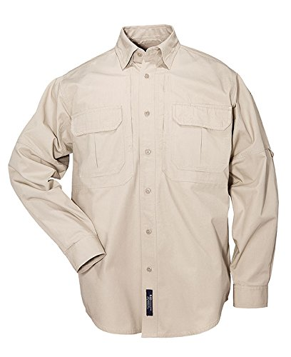 5.11 Tactical Chemise Tactical Coton Manques Longues Homme, Khaki, FR : M (Taille Fabricant : M)