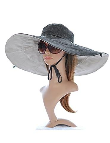 Sunscreen sun hat- Mme été Big gouttières chapeau de plage