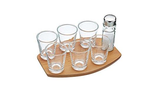 Barcraft Tequila Shot Glas Geschenk-Set (8Stück) (Glas Shot Holz)