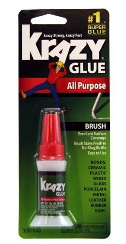 Krazy Glue KG94548R Instant Crazy Glue Home y office cepillo 0.18-ounce
