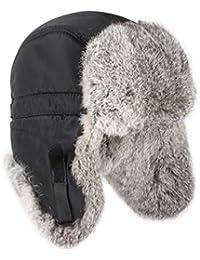 Unisex gorro de piel de conejo de única raposillaconstellation gorro gorro de invierno con diseño de Fox polar gorro sombrero ushanka