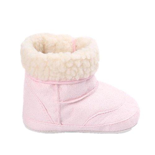 Amlaiworld Baby Schneestiefel weiche Sohle weichen Kleinkind Stiefel Rosa
