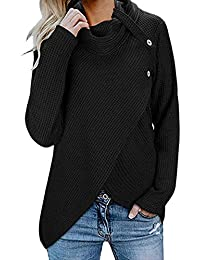 ec0e269adc1 LEXUPE Women Autumn Winter Warm Comfortable Coat Casual Fashion Jacket Long  Sleeve Solid Sweatshirt Pullover Tops