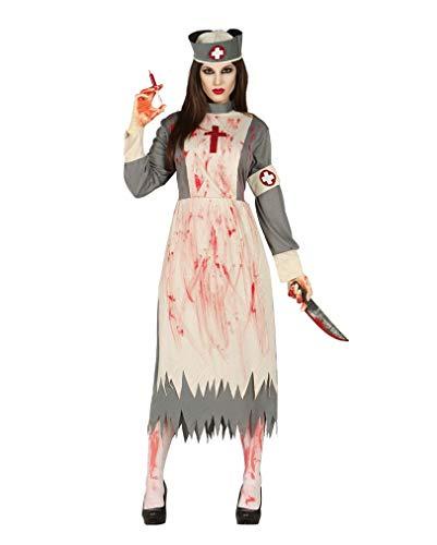 Horror-Shop Blutiges Psycho Lazarettschwestern Kostüm L (Psycho Krankenschwester Kostüme)