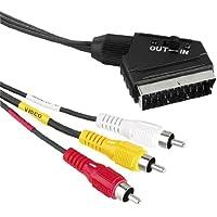 Eximtrade SCART auf 3-Cinch Audio Video AV Adapter Kabel