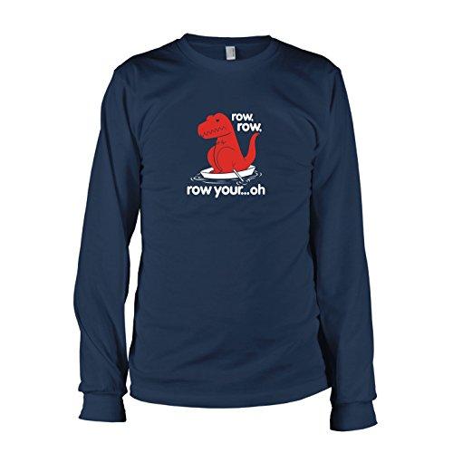 TEXLAB - Row your Oh - Langarm T-Shirt, Herren, Größe L, (Lebensgroße T Rex Kostüm)