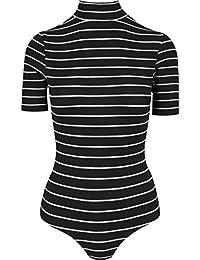 Urban Classics Ladies Striped Turtleneck, Body Femme