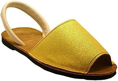 15090G - Sandalia ibicenca glitter amarillo