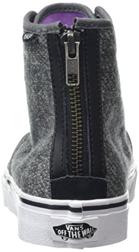 Vans Camden Hi Zip, Sneakers Hautes Femme Gris (Tweed Black)