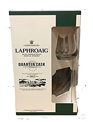 Laphroaig Quarter Cask 70CL With One Branded Glass In A Gift Box