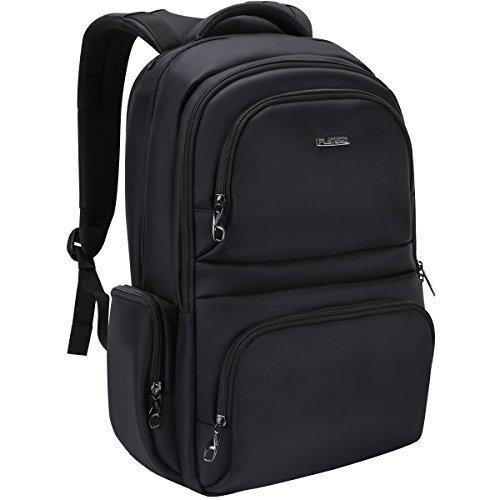 PLATERO Laptop Rucksack Notebook Rucksäcke passte bis zu 15,6 Zoll Laptop - glatte und stilvolle Design Fit Mann und Frau, Business, College und Reisen - Wasserresistent und Anti-Dieb Zipper - Schwarz