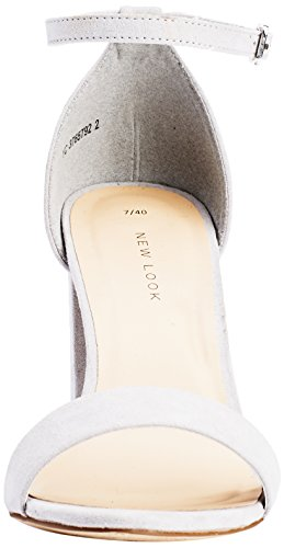 New Look Valuable 2 Part Block, Scarpe Col Tacco con Cinturino a T Donna Grigio (Grey (02/Light Grey))