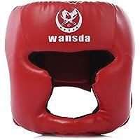 La protección de los ahorradores de la cabeza protección de la cabeza del casco casco / cabeza del deporte del boxeo por Lucha boxeo artes marciales de Taekwondo (rojo)