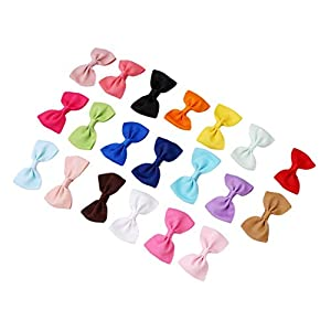 Ogquaton Durable 20pcs Bowknot bebé horquillas Mini pelo pasadores Pin para niñas niños 3